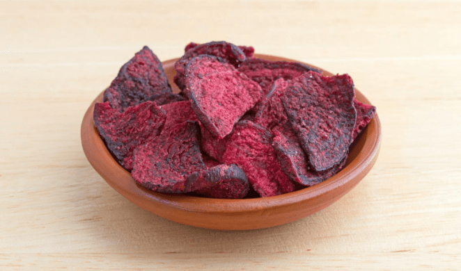 nutritious beet chips