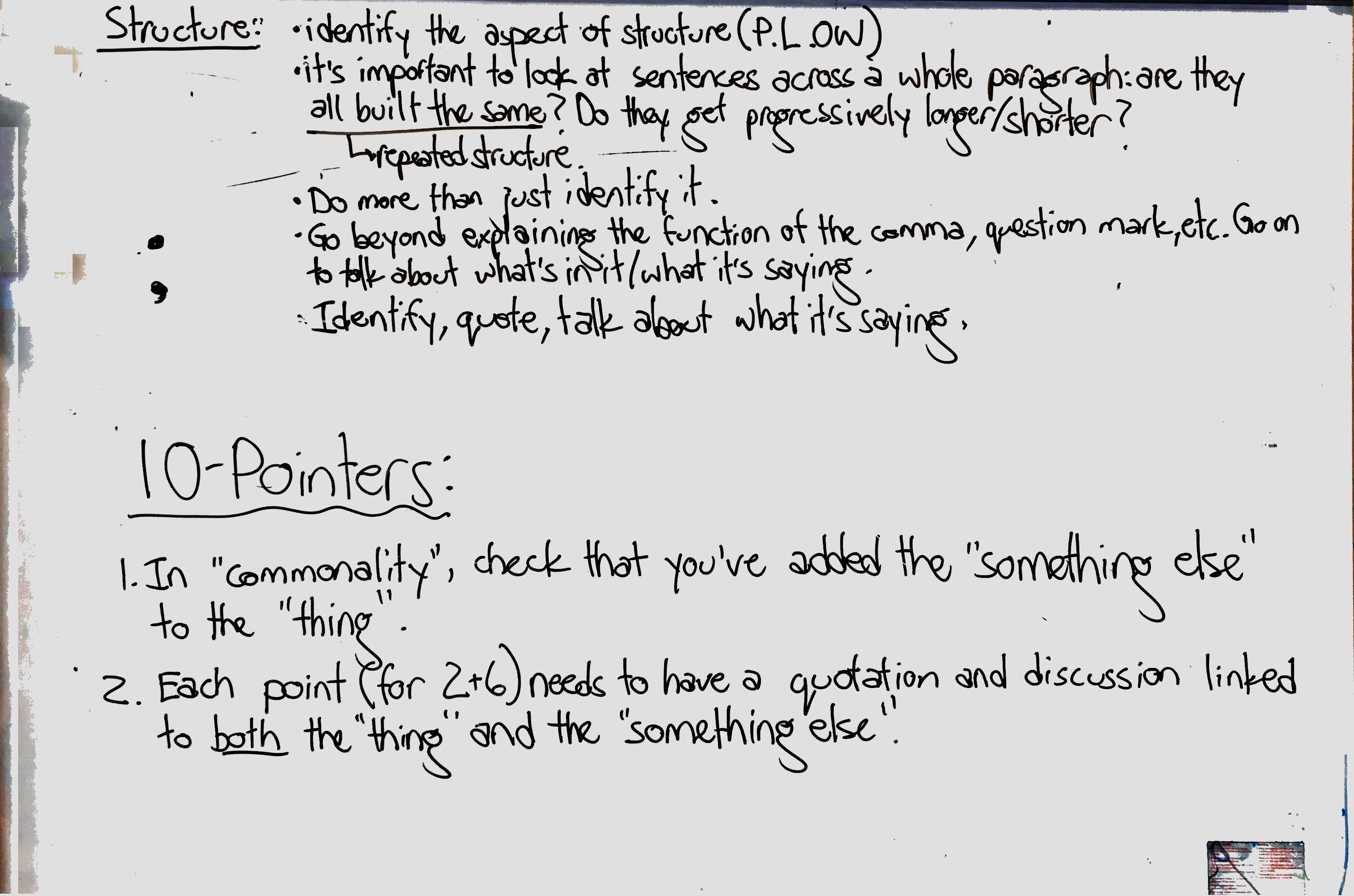Tone, Conclusions, Structure, 10-pointers