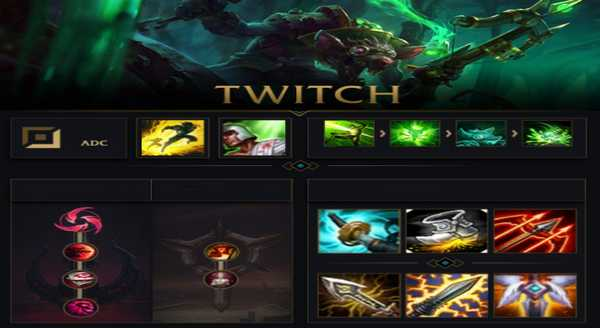 league of legends Build e runas para Twitch