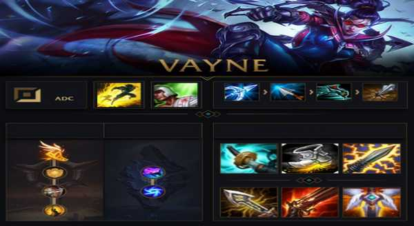 league of legends Build e runas para Vayne