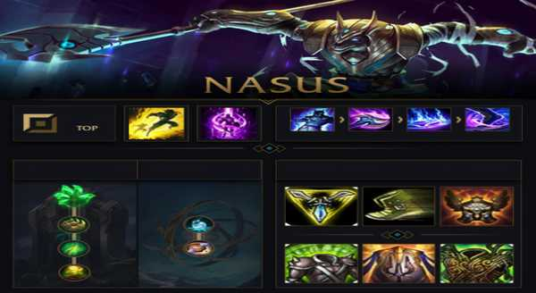 league of legends Build e runas para Nasus
