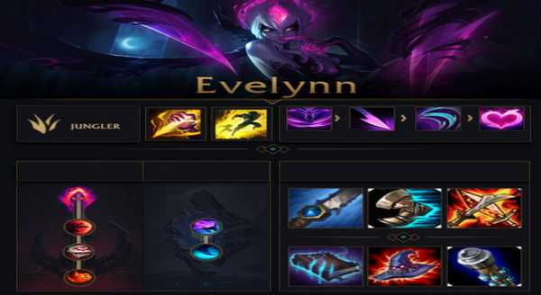 league of legends Build e runas para Evelynn