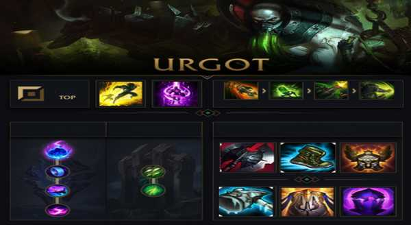 league of legends Build e runas para Urgot