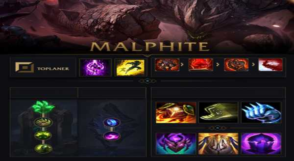 league of legends Build e runas para Malphite