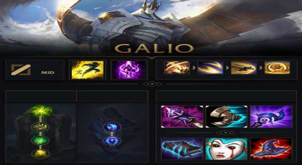 league of legends Build e runas para Galio