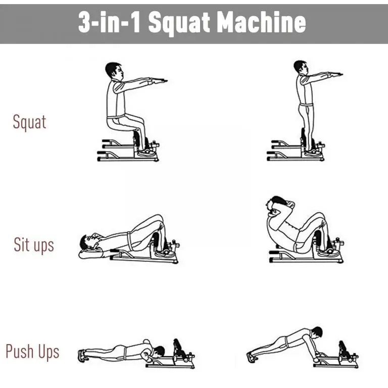 3 IN 1 Squat Machine Sit Up Push Up Manual Personal Gym