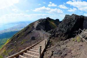 A walk track on Mt Vesuvius in Naples, Italy