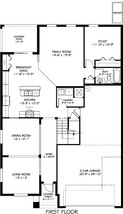 New 3210 Sq. Ft. / 4 Bedroom / 3 Bath / Bonus Room / Study