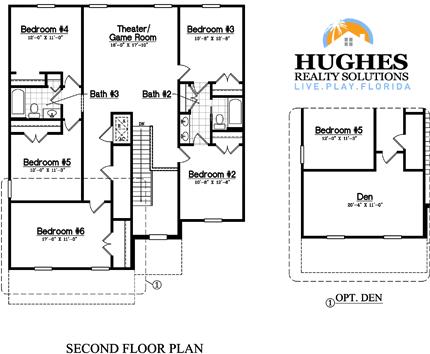 New 2,843 Sq. Ft. 6 Bedroom / 3.5 Bath / Leisure Room