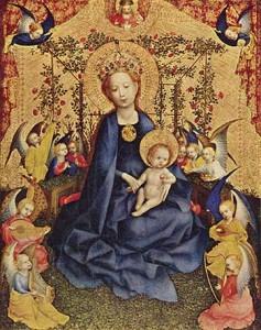 Stefan Lochner: Rosenhag-Madonna (um 1435)
