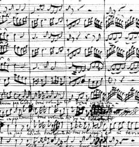 "Bach h-Moll-Messe: Autograph ""Et in terra pax"""