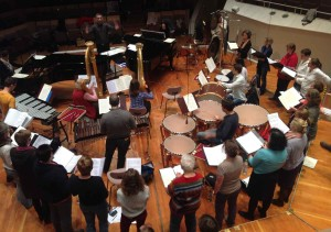 "Probe zu Dallapiccola ""Canti di Prigionia"" 2. Satz im Kammermusiksaal"