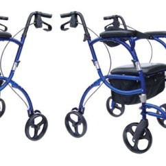 Walker Transport Chair In One Hugo Navigator Twin Futon Sleeper Rolling Mobility Pacific Blue Or Cranberry