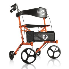 Walker Roller Chair Revolving Visitor Hugo Sidekick Side Folding Rolling With A Seat Mobility Tangerine