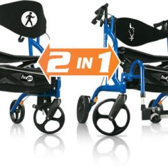 Walker Transport Chair In One Hugo Navigator Black Banquet Covers For Sale Rollator Mobility