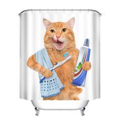 Un rideau de douche chat trop mignon