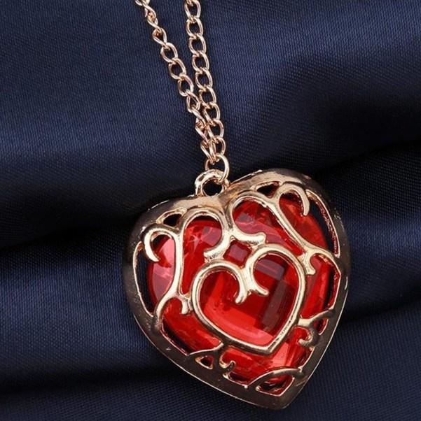 collier pendentif réceptacle de coeur zelda
