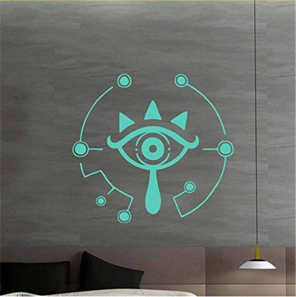 sticker mural tablette sheikah logo