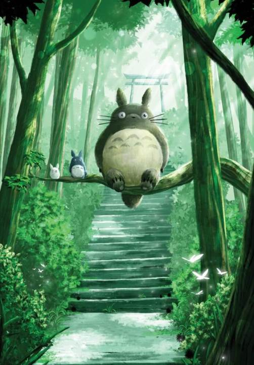 poster metal affiche manga anime mon voisin totoro