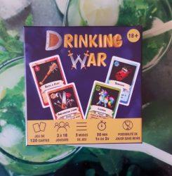 Drinking War, le test complet du jeu de cartes mêlant stratégie et alcool