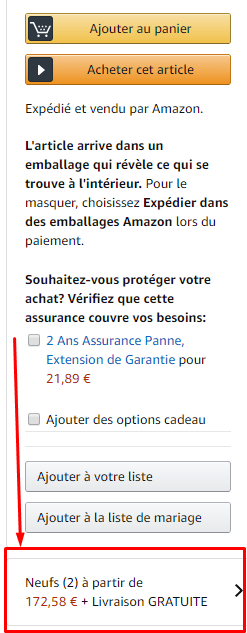 exlication ou trouver amazon warehouse