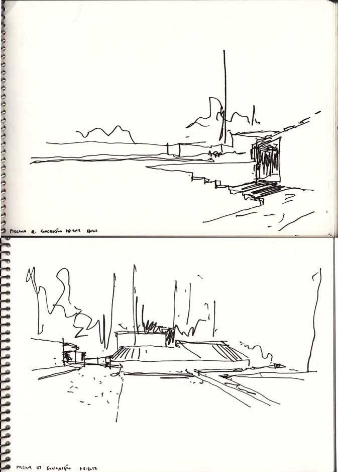 Drawing the classics *4 – Swimming pool