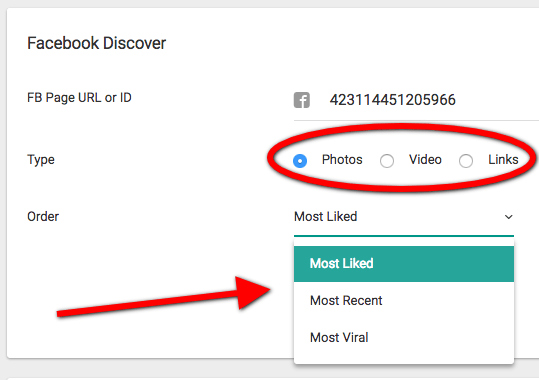 Facebook Discover en Octosuite