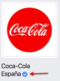 insignia azul de Facebook