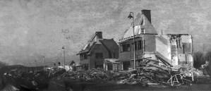 De Savornin Lohmanlaan, afbraak van huizen tussen de Evert Wijtemaweg en de Sportlaan