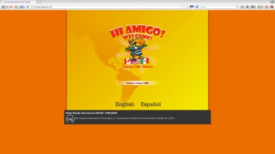 Concepto y diseño gráfico para proyecto editorial de Hi Amigo! Magazine en Victoria BC Canadá. Sitio web e impresos promocionales. Realizado en HTML. http://www.hiamigomagazine.com