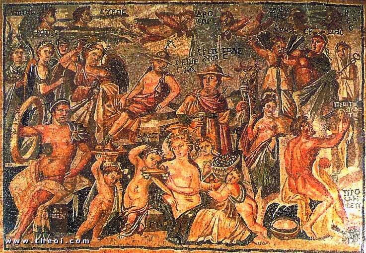 Aion(tími)-Hermes-Gaia-Prómeþeifur skapar manninn rómv mós