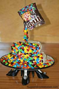 Magic M & M Brownie Cake - Hugs and Cookies XOXO