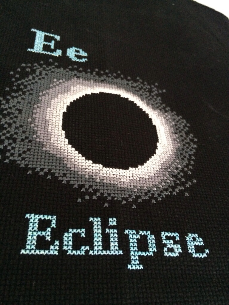 Space Cross Stitch from Hugs are Fun