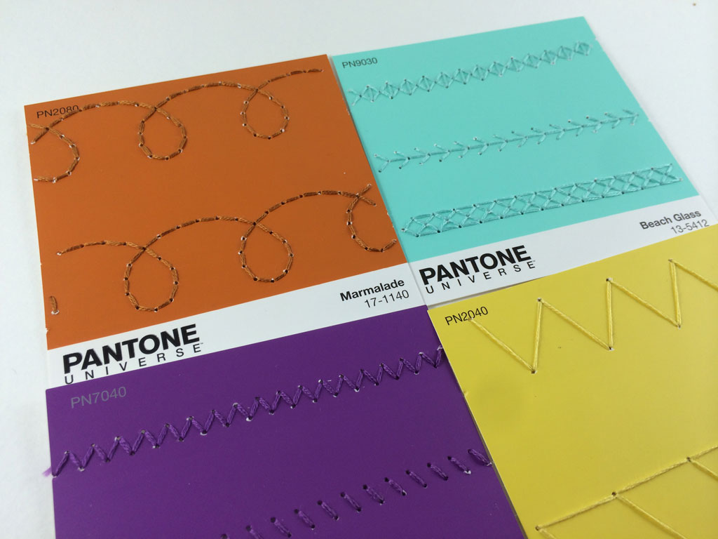 Pantone Paint Swatch Embroidery by Hugs are Fun