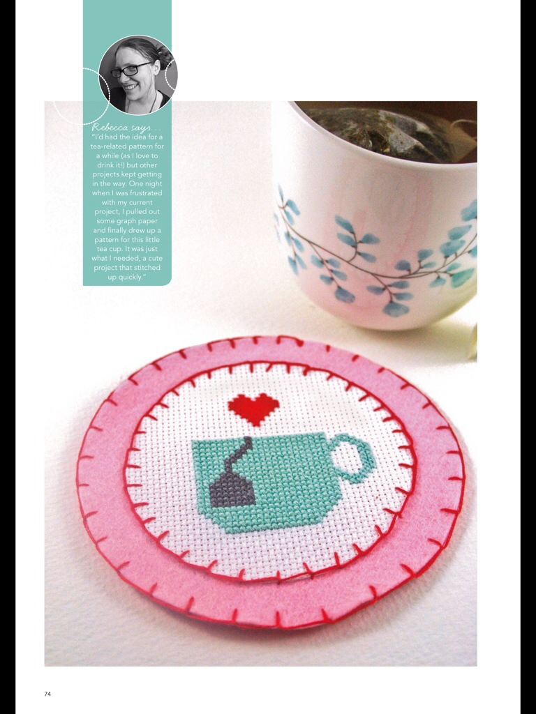 Hoop-La Magazine Tea Coaster by Hugs are Fun