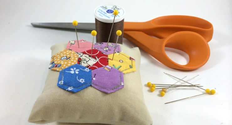 Hexagon Pincushion by Hugs are Fun