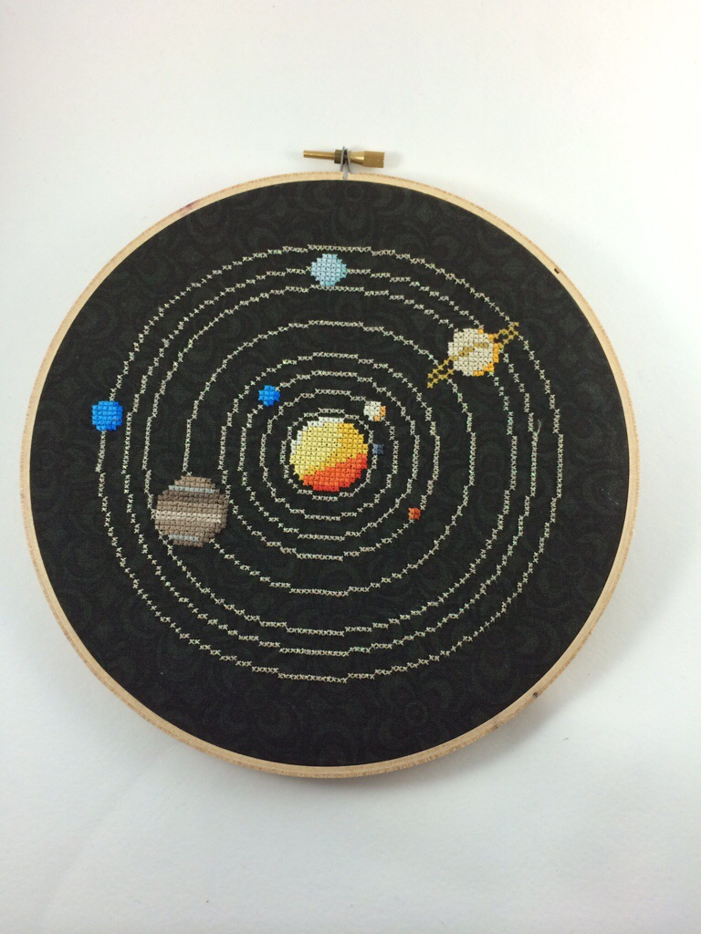 Solar System Cross Stitch by Hugs are Fun