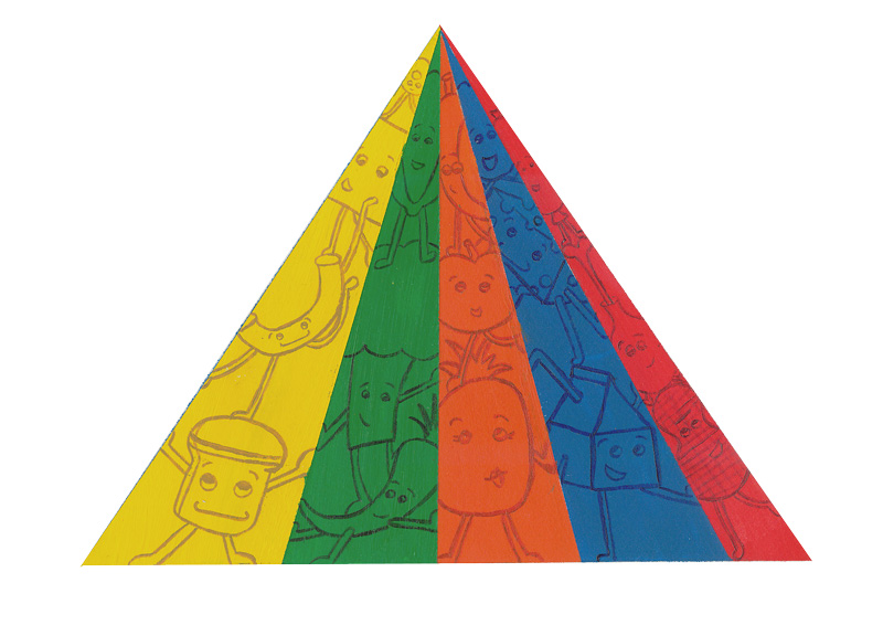 Food Pyramid Illustration by Hugs are Fun