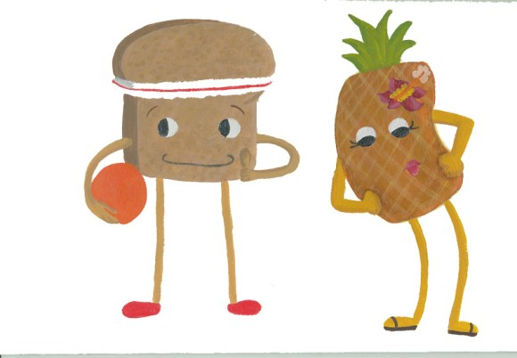 Bread and Pineapple Illustrations by Hugs are Fun