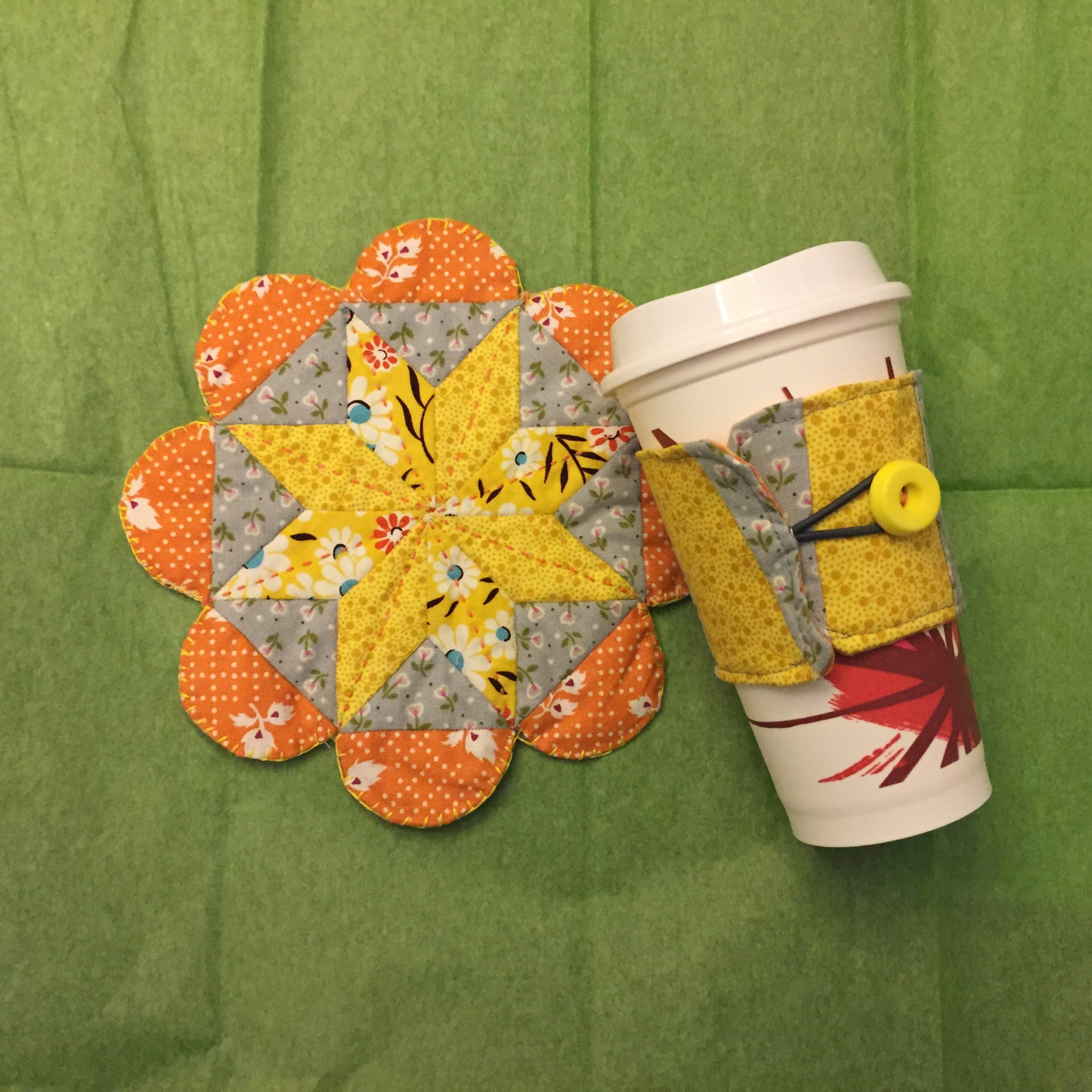 FlowerPOW Mug Rug Gift Set from Hugs are Fun