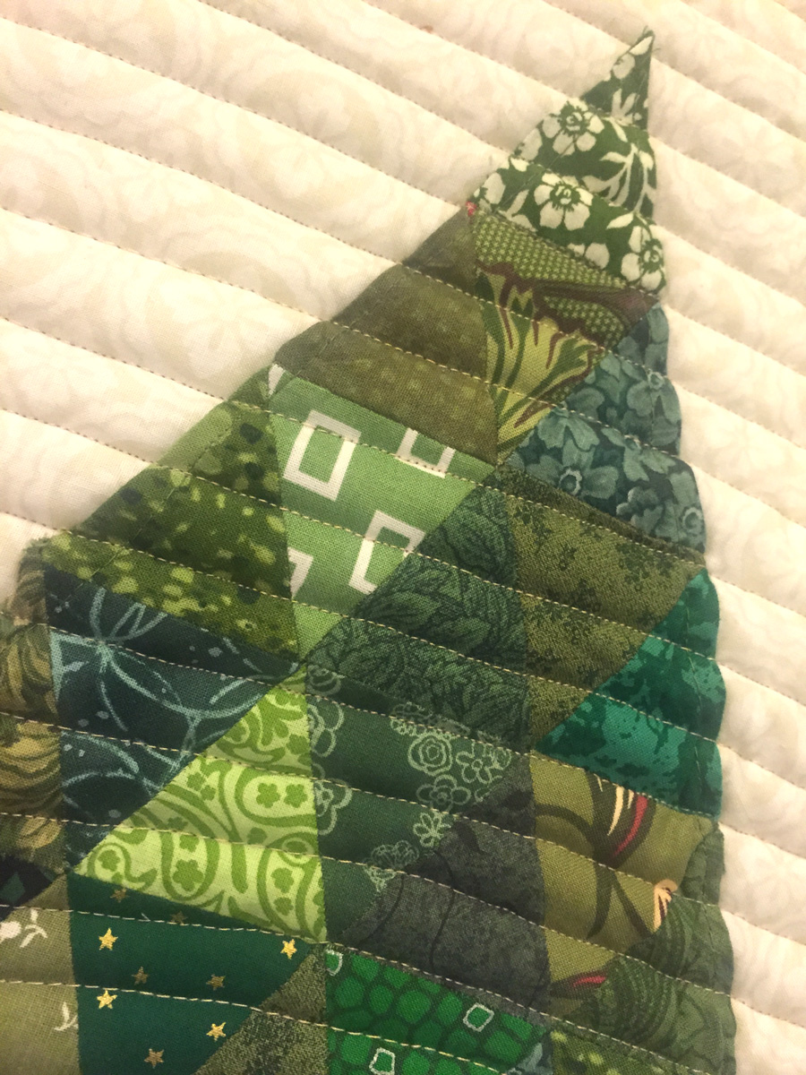 A Little Christmas Tree Quilting With Free Pattern