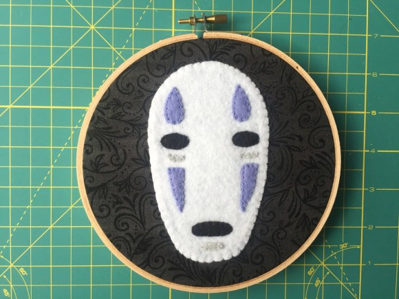 Studio Ghibli Swap - No Face Felt Embroidery Hoop from Hugs are Fun