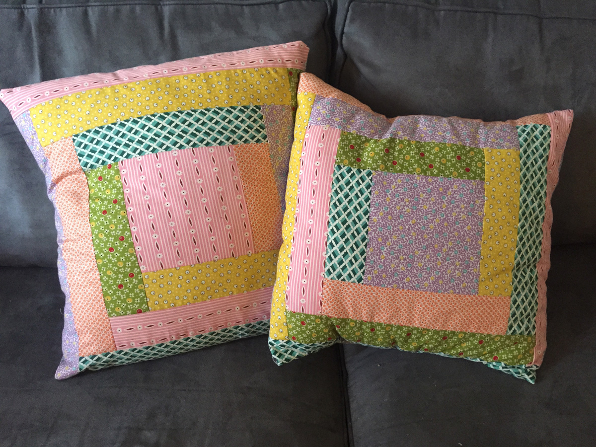 June TSNEM - Log Cabin Pillow from Hugs are Fun