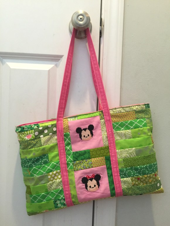 Tsum Tsum Cross Stitch Tote from Hugs are Fun