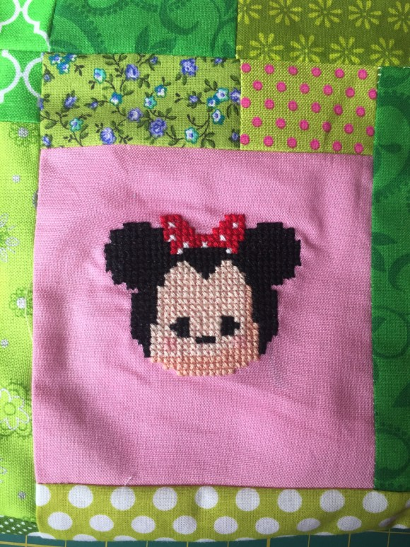 Minnie Tsum Tsum Cross Stitch from Hugs are Fun
