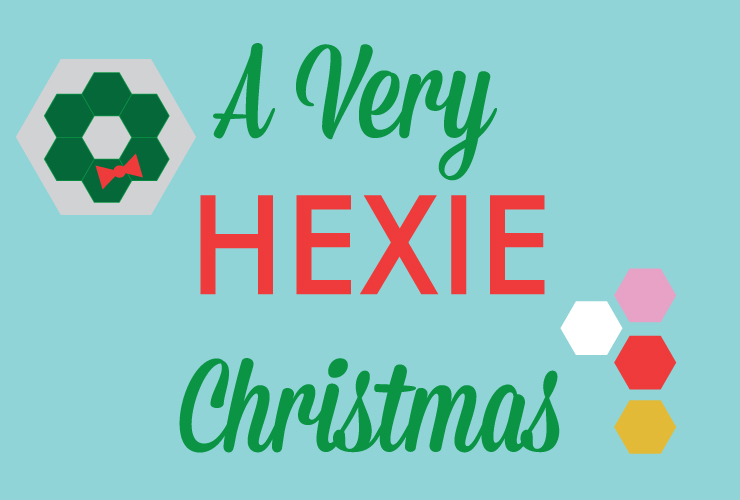 A Very Hexie Christmas - Hexie Garland from Hugs are Fun