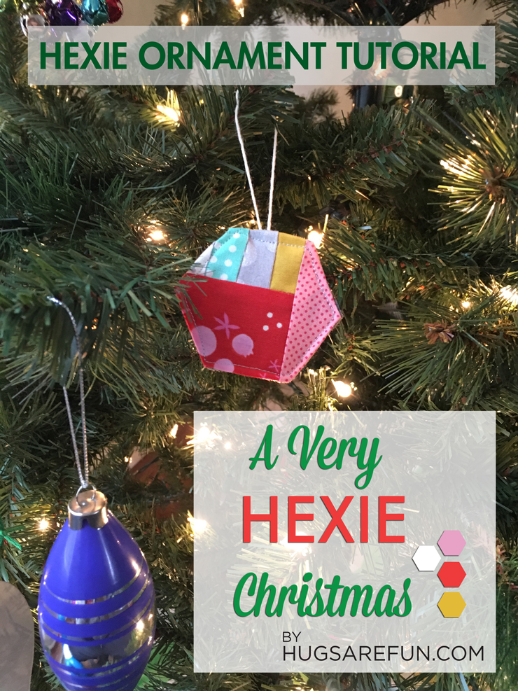 A Very Hexie Christmas - Hexie Ornaments from Hugs are Fun
