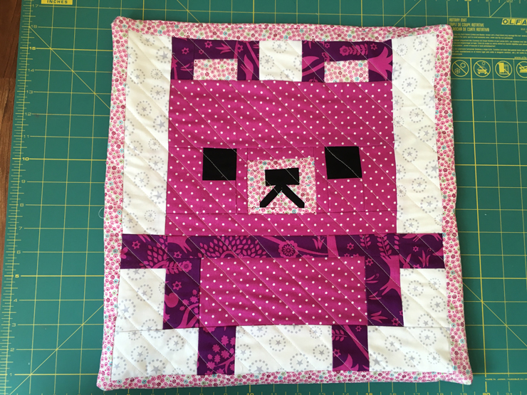 Teddies Quilt Pillow from Hugs are Fun