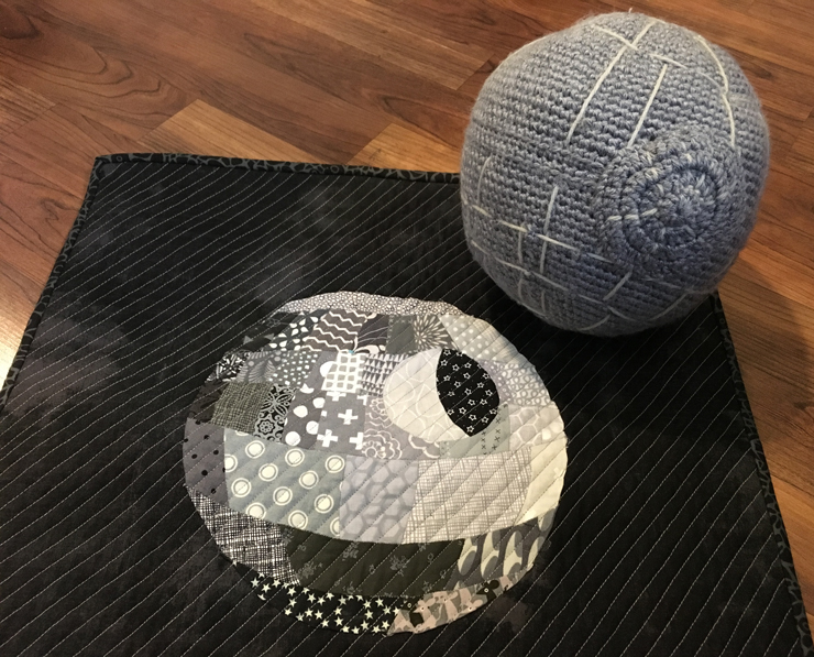 Death Star Mini Quilt! from Hugs are Fun