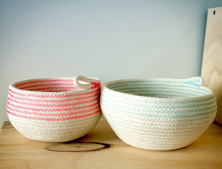 sewn rope baskets